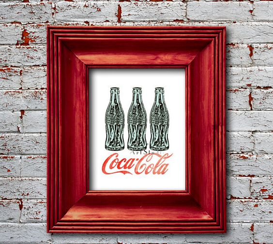 Coca cola bottles Pop art Retro mid century by EEartstudio, $12.00