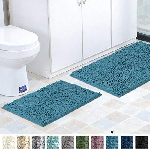 Flamingo P Microfiber Bath Rugs Chenille Floor Mat Ultra Soft Washable Bathroom Dry Fast Water Absorbent Bedroom Area Rug In 2020 Bath Rugs Bedroom Area Rug Floor Mats