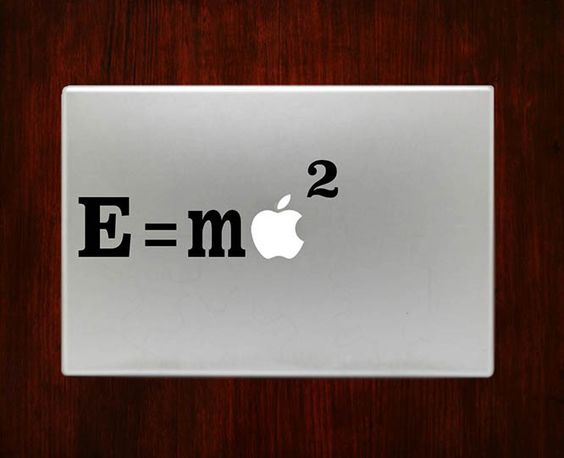 "Einsteins Equation E=mc2 Decal Sticker Vinyl For Macbook Pro/Air 13"" Inch 15"" Inch 17"" Inch Decals Laptop Cover"