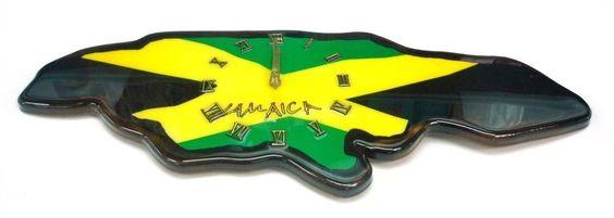 Clock Jamaica Island Design Flag Clock