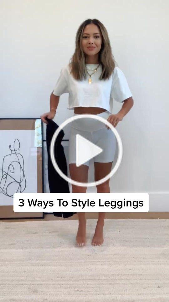 Naomi Boyer Naomiboyer On Tiktok 3 Ways To Style Leggings Fashion Style Tiktokfashion Howto Pretty Girl Outfits Pants Outfit Casual Slogan T Shirt Dress
