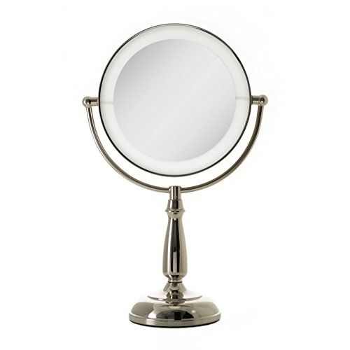Zadro Ultra Bright Dual Sided Led Lighted Vanity Make Up Mirror With 1x 10x Magnification In Polished Nickel Finish Mirror Makeup Mirror Polished Nickel