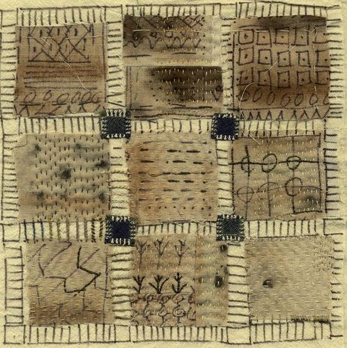 """bridgesby jude hill10"""" square, study for a larger quilt: Artist Fabric, Artist Jude, Stitched Textiles, Jude Hill Textiles, Art Quilts, Textile Art"""