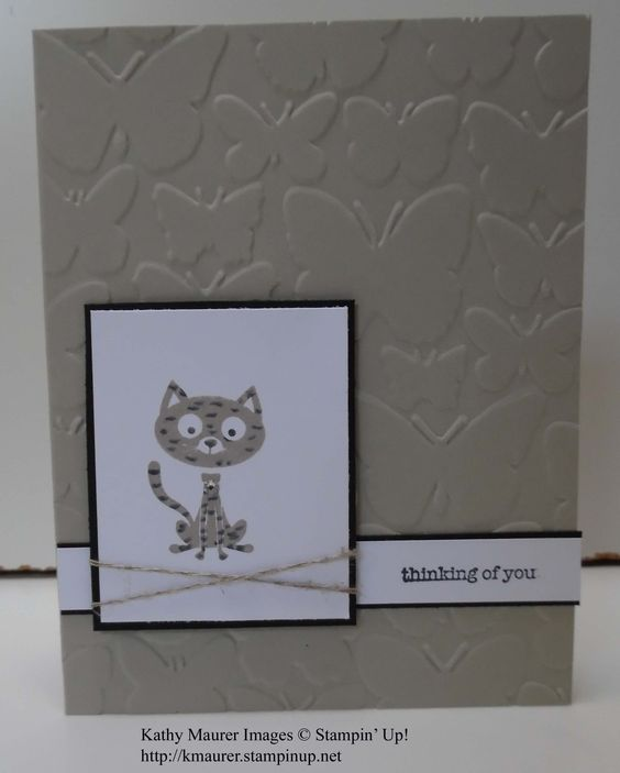 Pet Sympathy Card made with Stampin' Up!'s You Little Furball Stamp Set.  For details, go to my Monday, April 25, 2016, blog at http://kmaurer.stampinup.net
