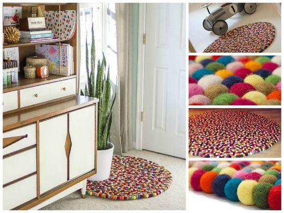 Einige #Zimmer dürsten nach mehr #Farbe! Unsere Multicolor-Teppich sind bunt, handgemachte und umweltfreundlich. Bestelle deinen Multicolor-Teppich noch heute und es wird sicher gute Laune im Haus bringen! http://www.sukhi.de/rund-alisha-filzkugelteppiche.html