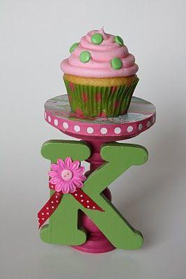 Monogram cupcake stands