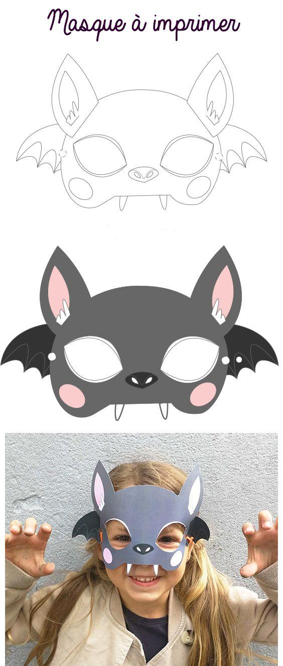 Masque D Halloween A Imprimer La Chauve Souris En 2020
