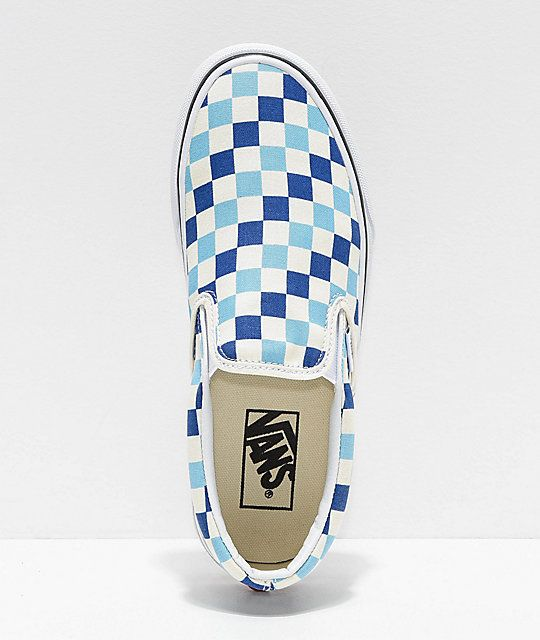 Vans Slip-On Blue, Topaz \u0026 White