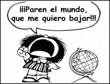 Resultado de imagen de mafalda paren el mundo