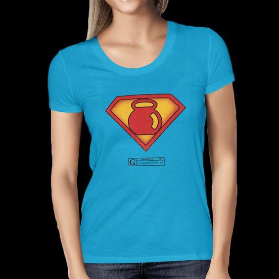 """""""Super Kettlebell"""" Women's Tees & Tanks"""