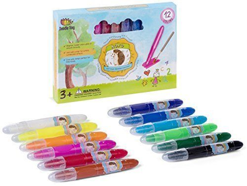 Gel Crayons Set Washable Art Supply Kid Toddler Pastel Watercolor