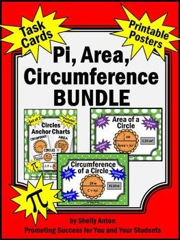 area and circumference geometry bundle of activities 7th grade common core math pi day. Black Bedroom Furniture Sets. Home Design Ideas