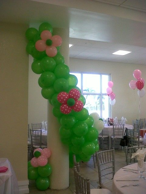 Owl baby shower party ideas flower balloons and babies