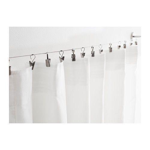 New Ikea RIKTIG Stainless steel Curtain hook with clip x 24 #IKEA ...