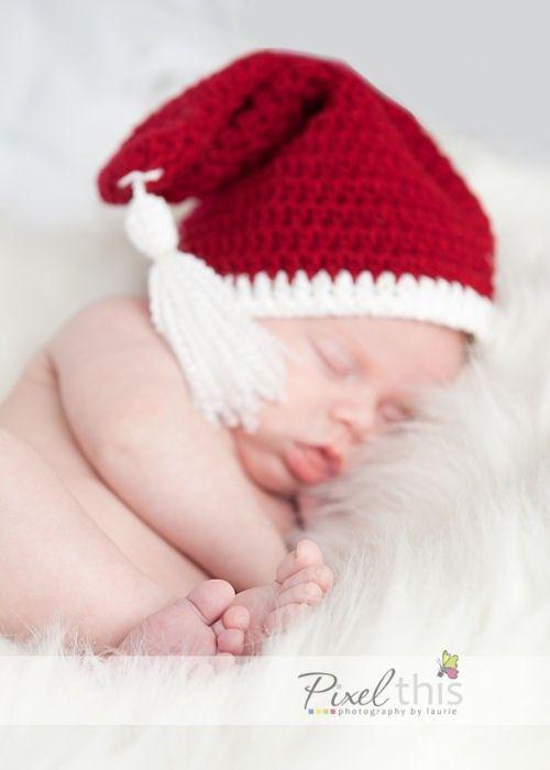 Classic Santa Hat with Tassel crochet