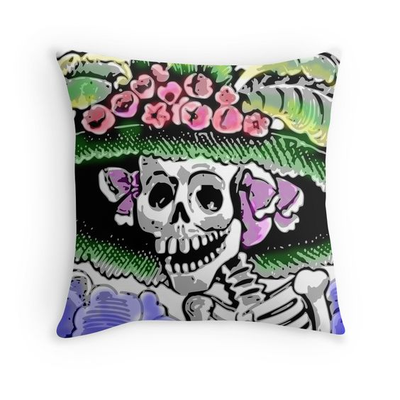 Funny Skeleton with funny hat and flowers by MNA-Art