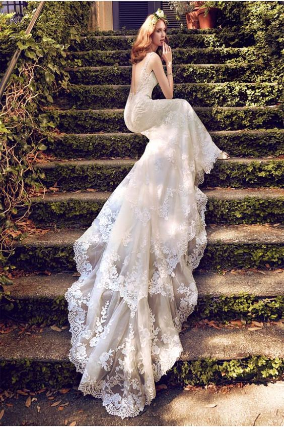2018 Floor White Mermaid wedding dresses