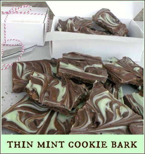Thin mint Cookie Bark