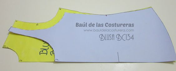Blusa BC134 Franelilla o Musculosa   EL BAÚL DE LAS COSTURERAS