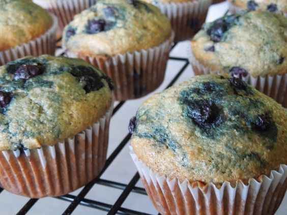 Healthy banana and blueberry muffins from Baker on the Rise