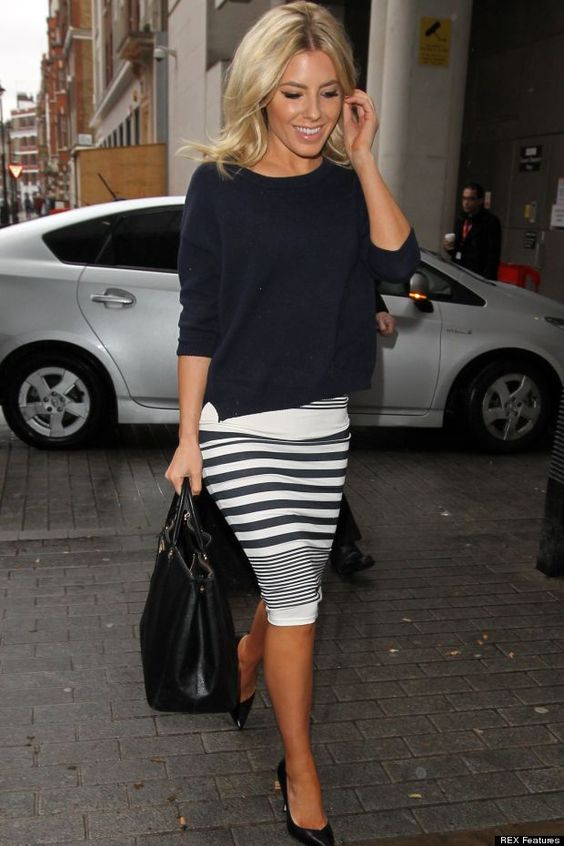 Showing Their Stripes! Mollie King And Frankie Sandford Co-Ordinate Their Outfits At Radio 1