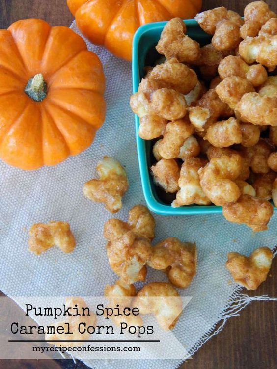 Pumpkin Spice Caramel Corn Pops-Sweet, crunchy, and perfectly spiced ...