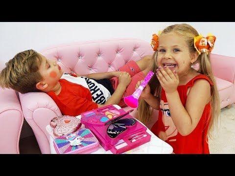 ديانا روما والحيل الطفولية Youtube Disney Love Songs Funny Stories For Kids Stories For Kids