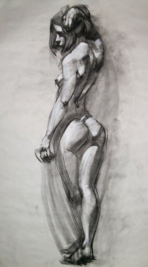 Nude Female Drawing 116