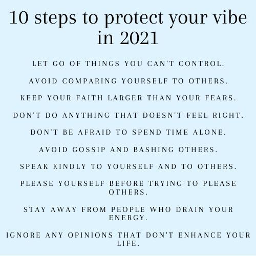 Positive New Year Vibes 2021 New