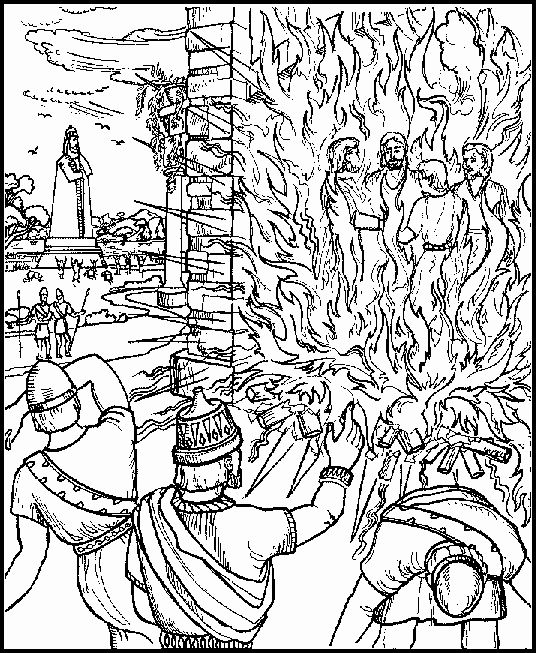 Shadrach Meshach And Abednego Coloring Page Lovely The Fiery