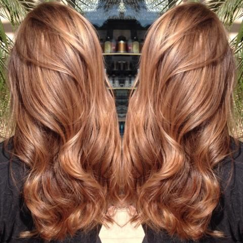 Perfect colour to subtly lighten dark hair for the hotter months - Please click for HOW TO achieve this Sweet Caramel colour - Modern Salon...x