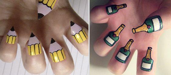 The Dot Creative Design Blog (posts tagged 'nail art') ----  Tetris / Happy New Year!