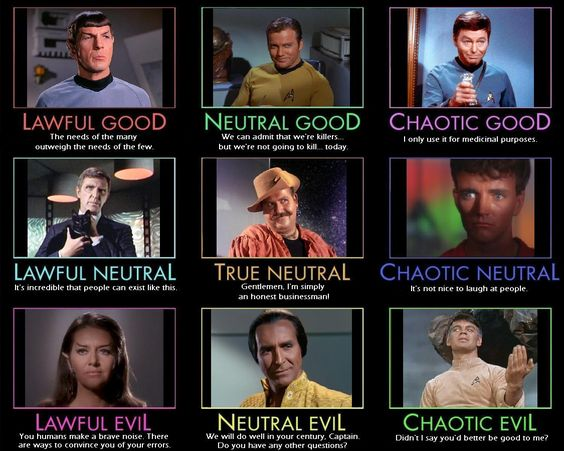 Star Trek Alignment Chart #startrek