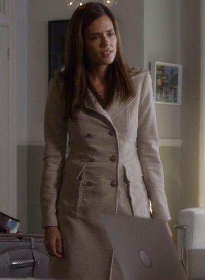Melissa's beige pea coat