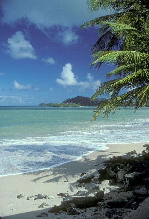 Plage de Ste.Lucie, Caraibes