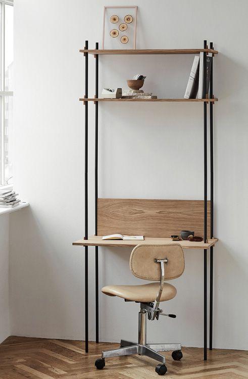 Shelving System Regal Mit Schreibtisch Von Moebe Holzdesignp