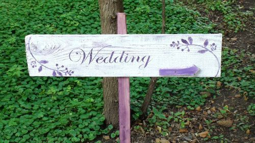 Purple Wedding Sign