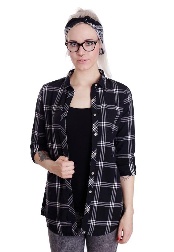 Iriedaily - Macker Plaid Black/White - Hemd - Offizieller Streetwear Online Shop - Impericon.com