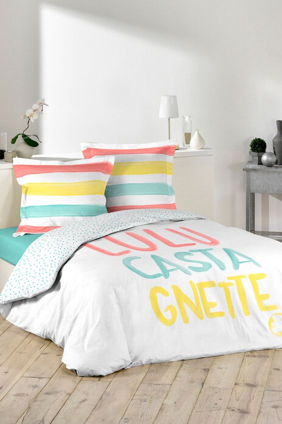 Vente Lulu Castagnette 22806 Linge De Lit Parure De Couette
