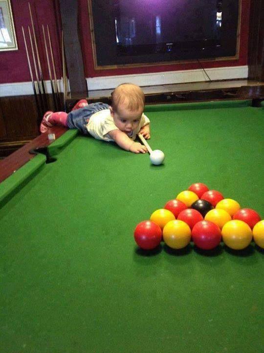 Pool baby!