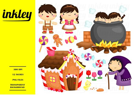 Hansel And Gretel Clipart Kids Story Clip Art Fairytale Etsy Clip Art Fairy Tales Stories For Kids
