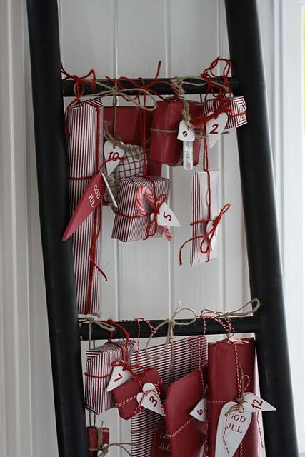 Xmas inspiration in red l Avendt calender