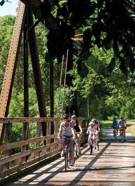 Biking—a great escape. Six trails within two hours of the Twin Cities. (Photo by Paul Stafford, Explore Minnesota Tourism) @Minnesota Monthly
