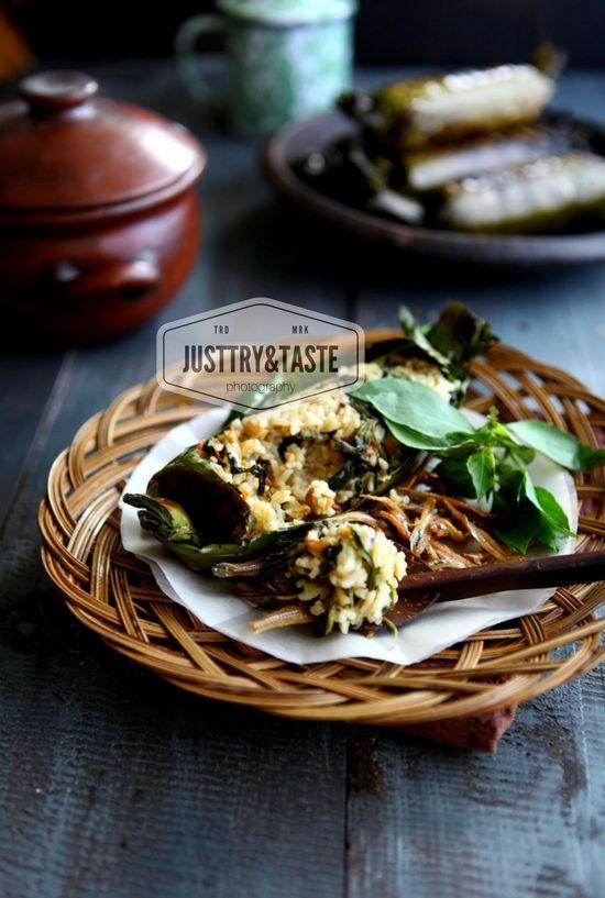 Resep Nasi Bakar Teri Dan Tempe Makanan Masakan Resep