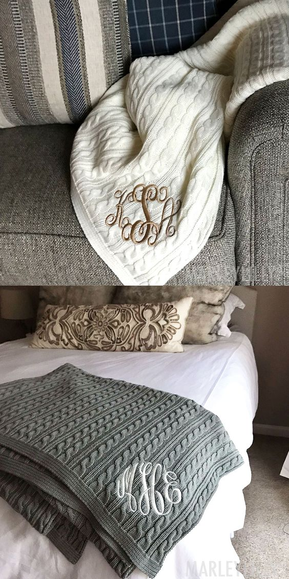 This personalized throw is the perfect way to make your home cozy and stylish!