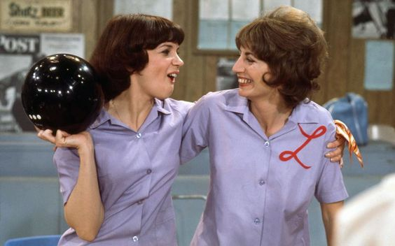 Laverne and Shirley in 'Laverne & Shirley (1976-1983). See 21 other female dynamic duos who kick ass on screen.