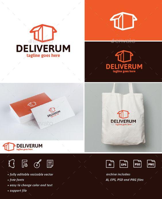 Deliverum Logo Template PSD, Vector EPS, AI Illustrator