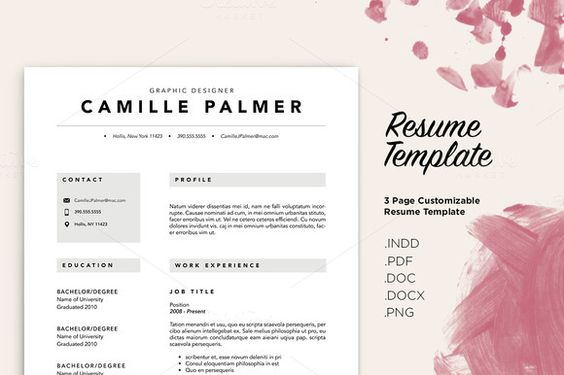 257 best CV Templates images on Pinterest Resume templates - resume template docx