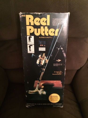 Rare-The-Reel-Putter-Exec-U-Putt-1987-Putt-and-Reel-w-BOX-Fishing-Pole-Golf