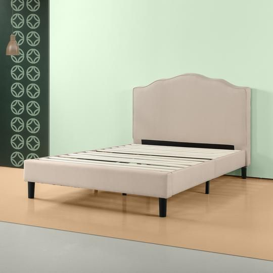 Zinus Paris Upholstered Scalloped Platform Bed Frame